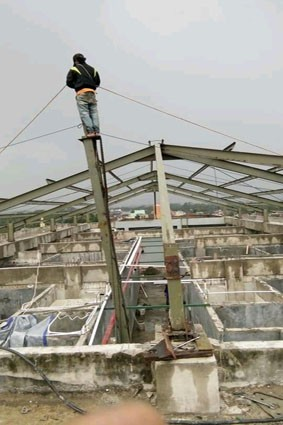 jasa kontruksi atap baja gudang 2020