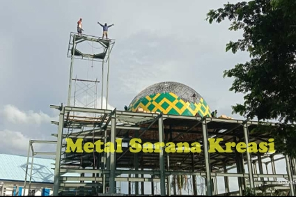 Kontruksi baja bangunan masjid 1 desember 2020
