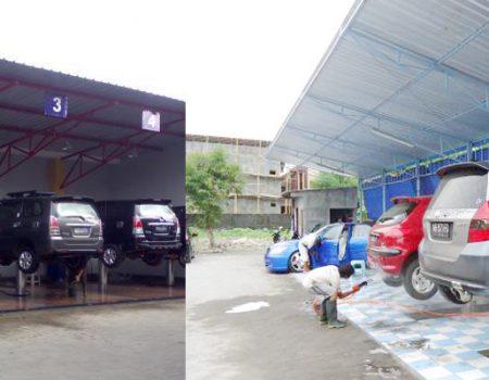 jasa kontruksi tempat cuci mobil/motor 2020